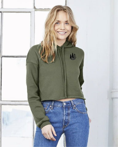 Smooth Seas - Ladies' Crop Hoodie
