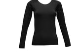 Fleecy Lined Round Neck Thermal Top For Women