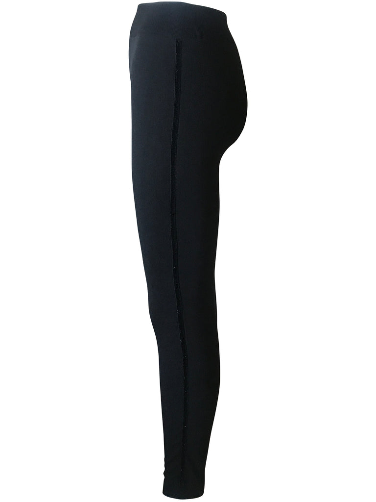 Leggings with Subtle Shimmery Side Stripe