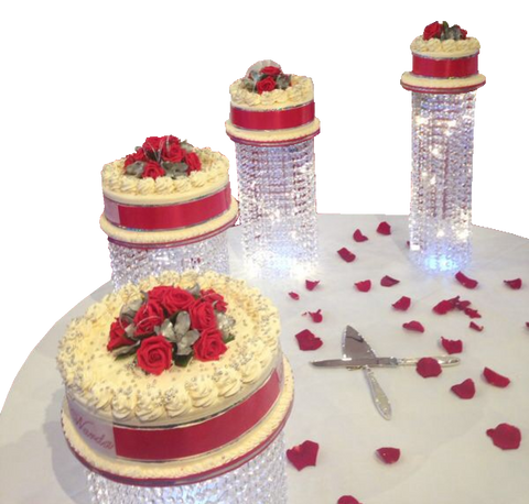4 Tier Crystal Stand Collection Cake code W24