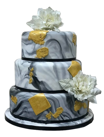 3 Tier Marble Vein Effect Cake NW04