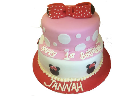 2 Tier Minnie Mouse Cake B101