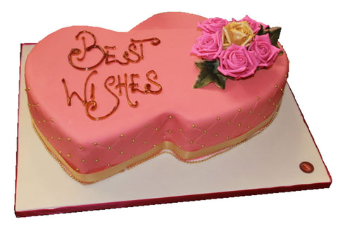 Two Hearts Royal Icing Cake Style (W62)