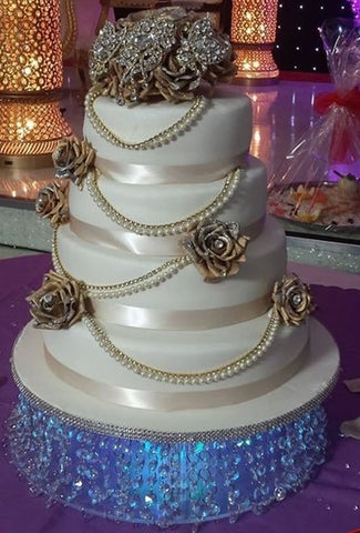 4 Tier Crystal Tower Cake Code W25