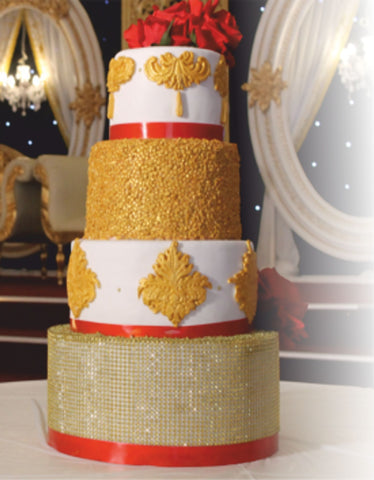 4 Tier Golden Tower Cake code w73