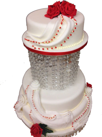3 Tier Round Crystal Tower Cake Code W92
