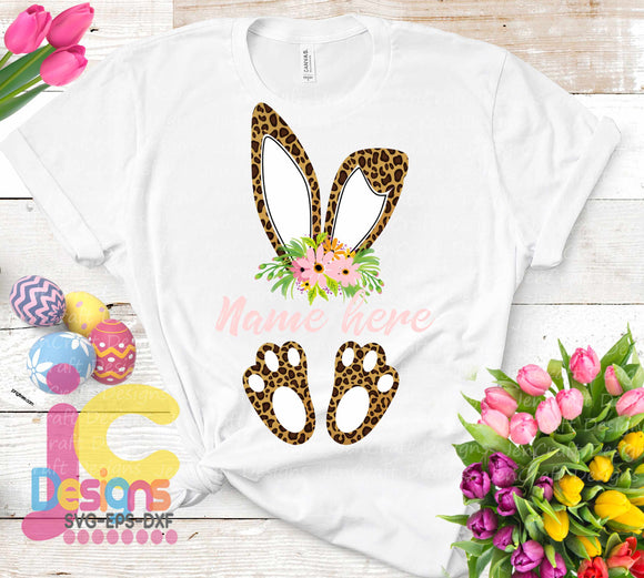 Cheetah Print Bunny Ears Sublimation PNG - JenCraft Designs