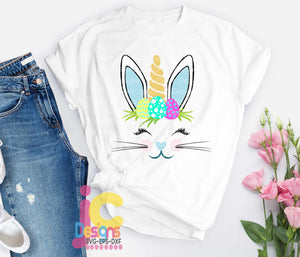 Easter Bunny Unicorn SVG, EPS, DXF and PNG - JenCraft Designs