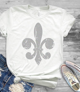 Distressed Fleur De Lis SVG, EPS, DXF and PNG - JenCraft Designs