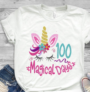 100 Magical Days SVG, EPS, DXF and PNG - JenCraft Designs