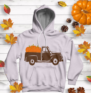 Fall Pumpkins Truck SVG, EPS, DXF and PNG - JenCraft Designs