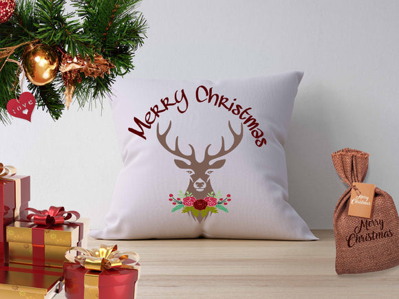 Christmas Floral Deer Antlers SVG, EPS, DXF and PNG - JenCraft Designs