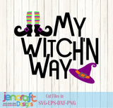 My Witchin Way SVG, EPS, DXF and PNG - JenCraft Designs