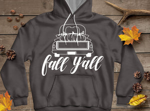 Fall Y'all Vintage Truck Stencil SVG, EPS, DXF and PNG - JenCraft Designs