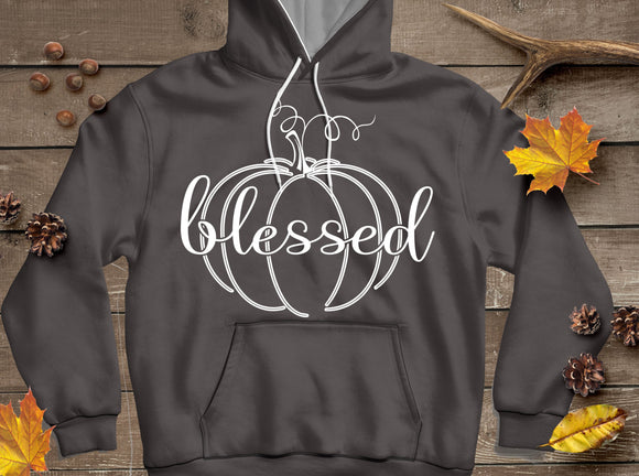 Autumn Blessed Pumpkin SVG, EPS, DXF and PNG - JenCraft Designs