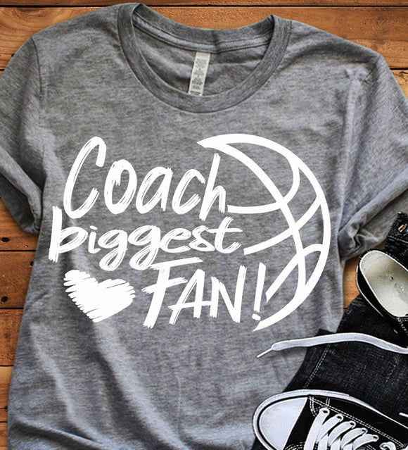 Basketball Coach Biggest Fan SVG, EPS, DXF and PNG - JenCraft Designs
