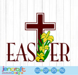 Easter Cross SVG, EPS, DXF and PNG - JenCraft Designs