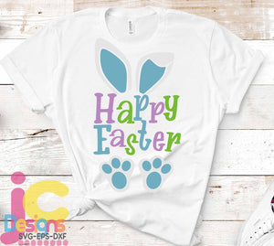 Happy Easter SVG, EPS, DXF and PNG - JenCraft Designs