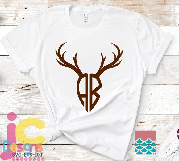 Deer Antler Alphabet SVG, EPS, DXF and PNG - JenCraft Designs