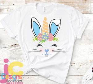 Boy Bunny Unicorn SVG, EPS, DXF and PNG - JenCraft Designs