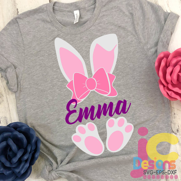 Easter Bunny Ears SVG, EPS, DXF and PNG - JenCraft Designs