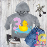 3rd Birthday Duck Design SVG, EPS, DXF and PNG - JenCraft Designs