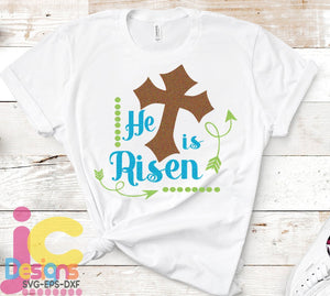 He is Risen SVG, EPS, DXF and PNG - JenCraft Designs
