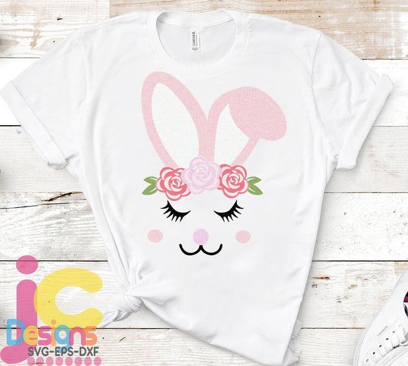 Girl Bunny SVG, EPS, DXF and PNG - JenCraft Designs