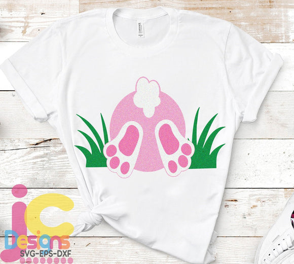 Easter Bunny Butt SVG, EPS, DXF and PNG - JenCraft Designs