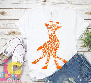 Baby Giraffe SVG, EPS, DXF and PNG - JenCraft Designs