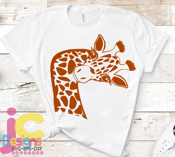 Giraffe SVG, EPS, DXF and PNG - JenCraft Designs