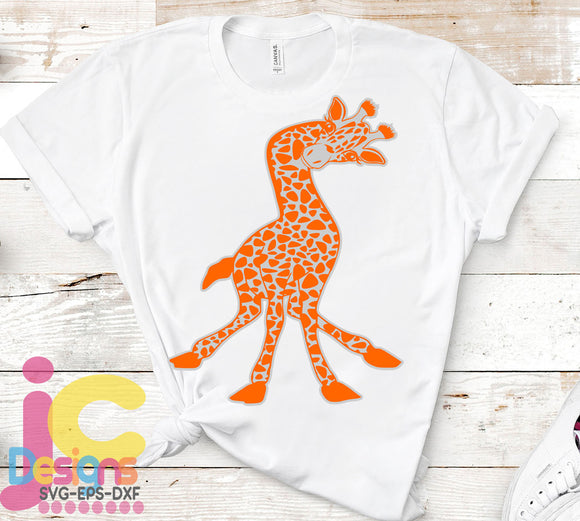 Giraffe Design SVG, EPS, DXF and PNG - JenCraft Designs