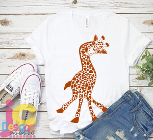 Cute Baby Giraffe SVG, EPS, DXF and PNG - JenCraft Designs