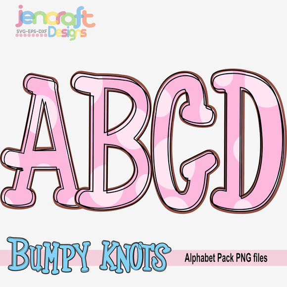 Doodle Letters Alphabet Bundle Sublimation Design - JenCraft Designs
