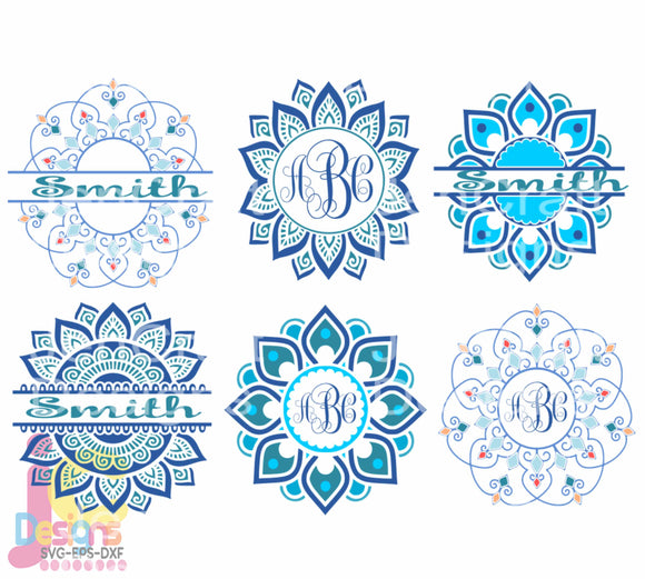 Mandala Bundle  SVG, EPS, DXF and PNG - JenCraft Designs