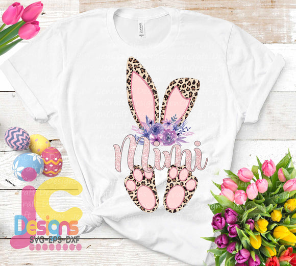 Mimi Cheetah Bunny Sublimation Design - JenCraft Designs