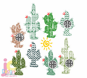 Cactus SVG, EPS, DXF and PNG - JenCraft Designs