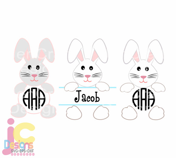 Easter Floppy Ears Bunny SVG, EPS, DXF and PNG - JenCraft Designs
