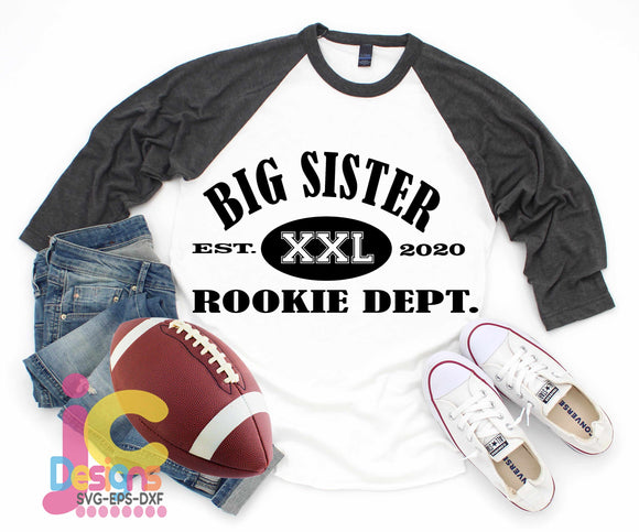 Big Sister Rookie Dept SVG, EPS, DXF and PNG - JenCraft Designs