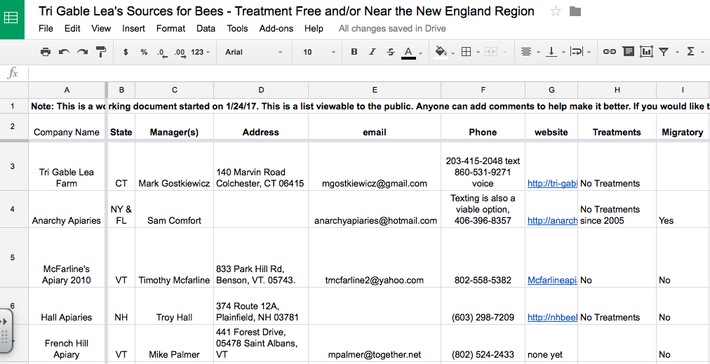 Need Bees? Here's Our List of Local and/or Treatment-Free Sources