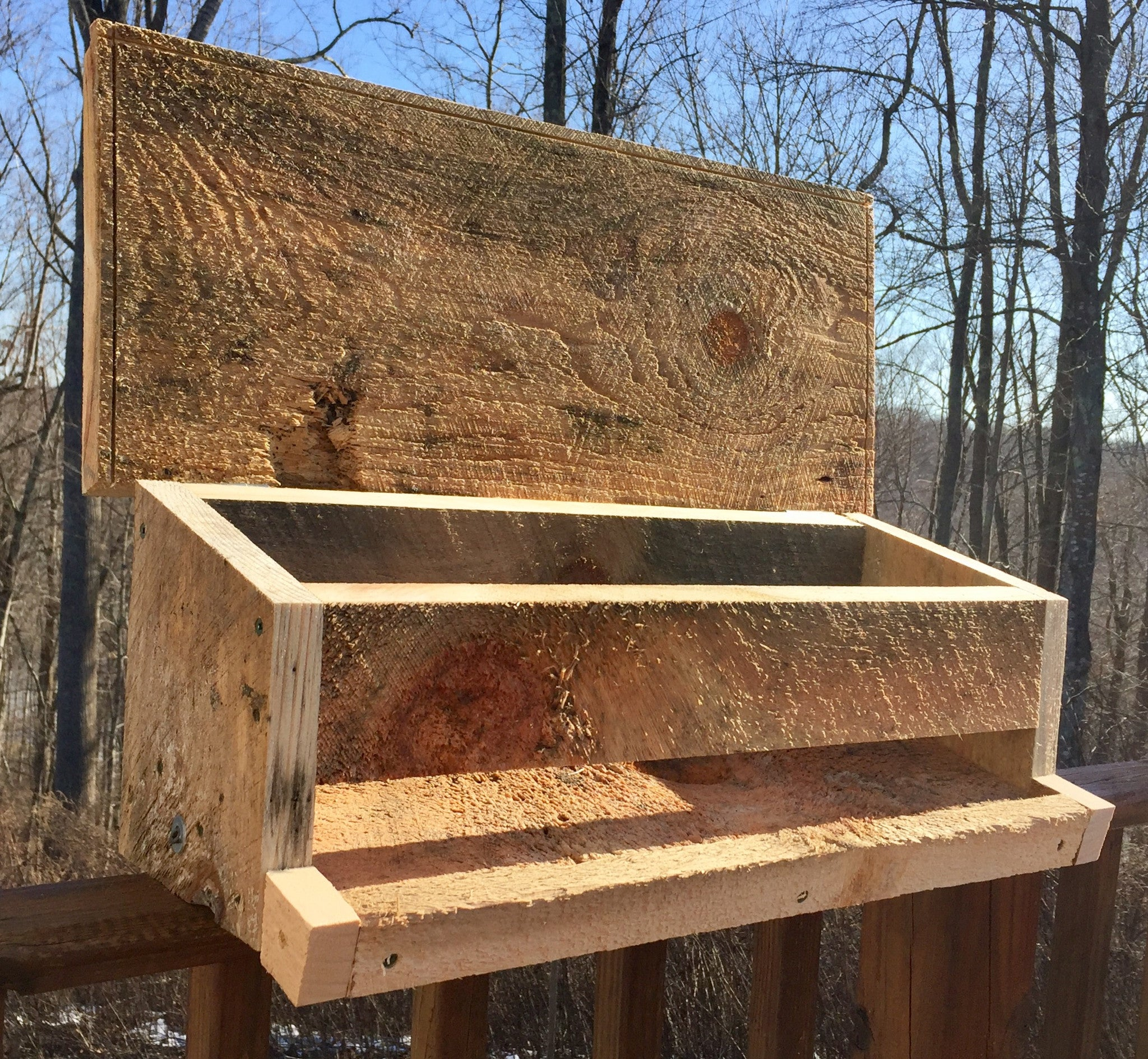 """The Buffet"" - Deck Rail Bird Feeder"