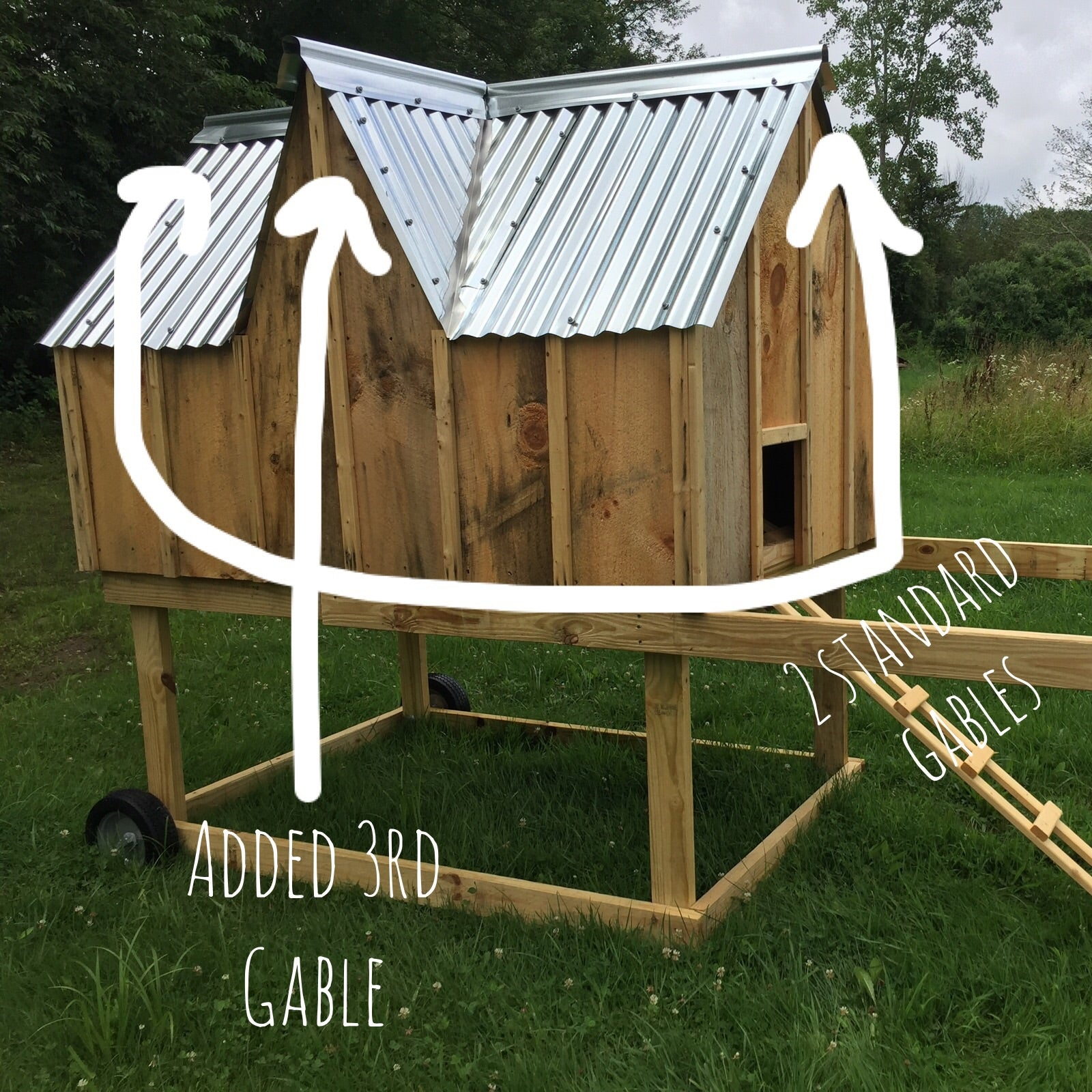 Tri Gabled Chicken Coop