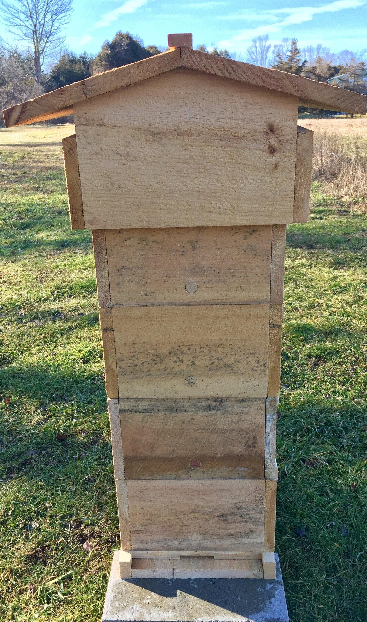 Tri Gable Lea Warré Complete Hive Kit