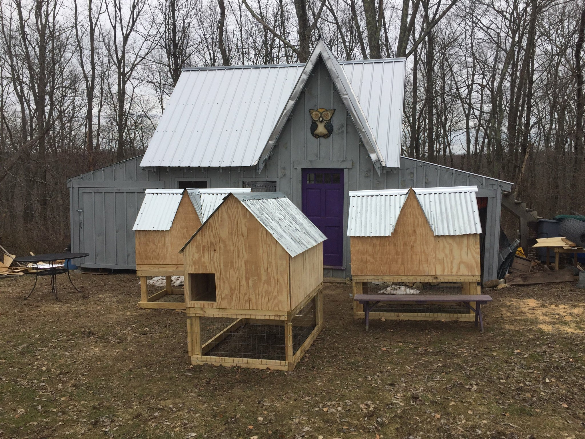 Tri Gabled Chicken Coop or Tractor