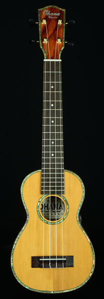 Ohana SK-250M Limited Edition Long Neck (Concert Neck) All Solid. Cedar Top on Acacia Back and Sides