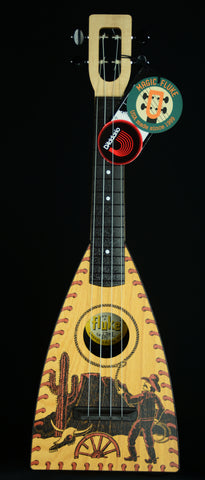 Magic Fluke Co.  CONCERT FLUKE – Cowboy top including: TLK  padded case, set of strings. Free Ship.