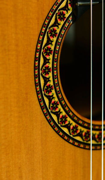 Almansa Model 436 Featuring Laminated Indian Roswood Back and Sides, Solid German Spruce Top, and Ebony Reinforced Neck