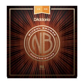 NB1256 Nickel Bronze Acoustic Guitar Strings, Light Top / Med Bottom, 12-56