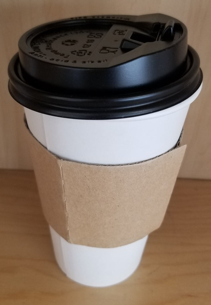 Hot Drink Paper Cups: 16 & 12 Ounces, and Covers
