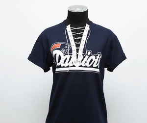 Patriots Lace Up Tee (READY TO SHIP)